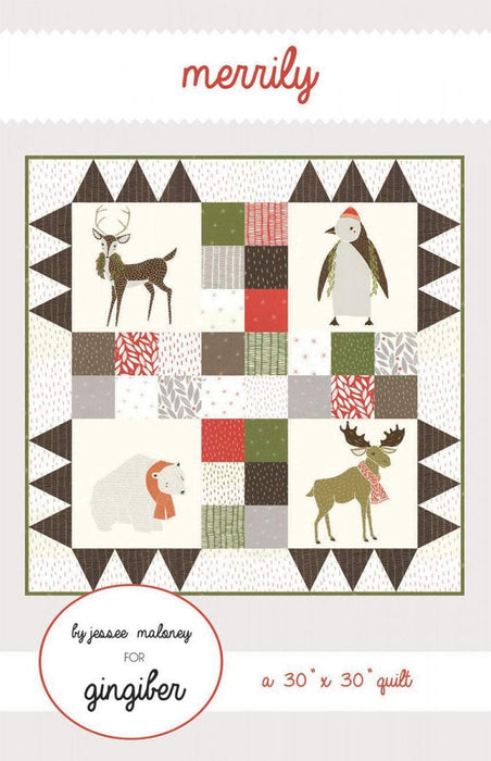 New! Merrily - Wall Hanging Quilt - designed by Stacie Bloomfield - Gingiber's - RebsFabStash