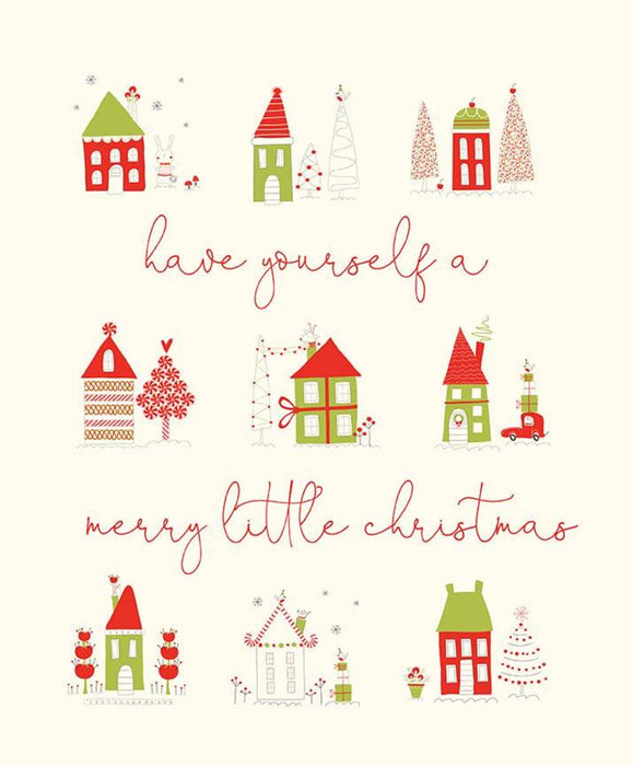New! Merry Little Christmas - Trees Cream - by the yard - Sandy Gervais - Riley Blake - Fun cute holiday design - C9641-CREAM - RebsFabStash