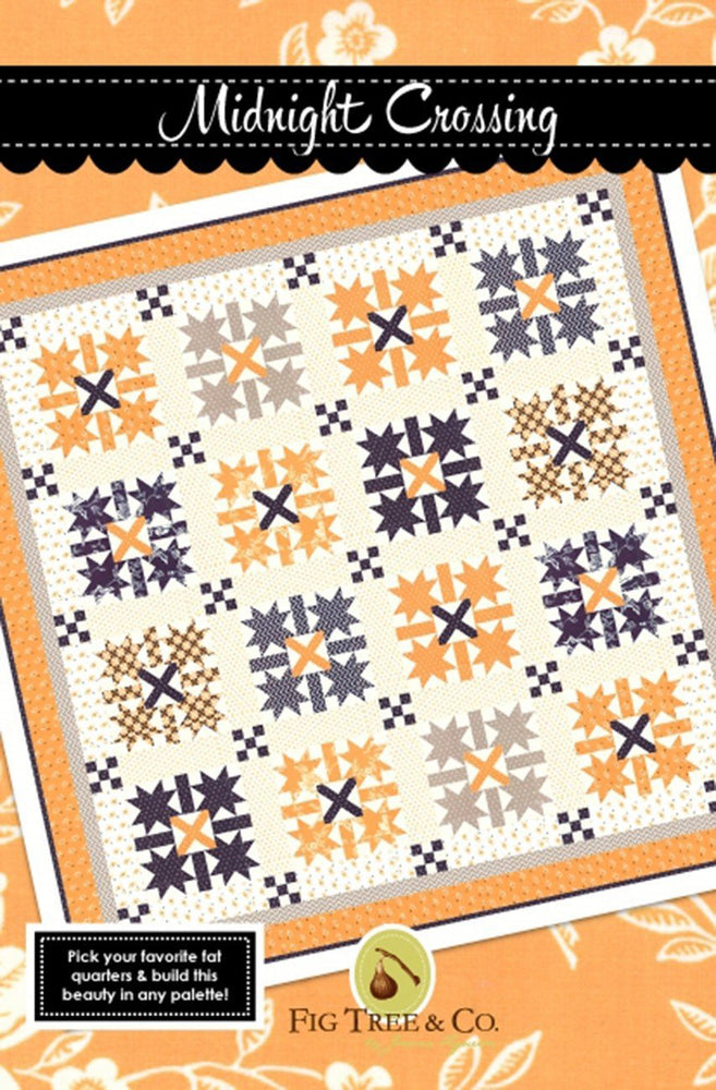 New! Midnight Crossing - Quilt Pattern - by Joanna Figueroa - Fig Tree & Co - RebsFabStash