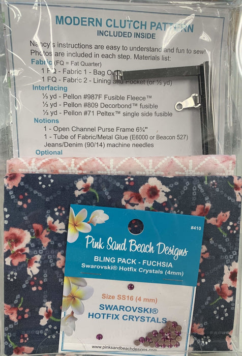 New! Modern Clutch #233 & 235 by Pink Sand Designs - Complete KITS!! Pattern, fabric and notions INCLUDED! Must See! 3 fabric options - RebsFabStash
