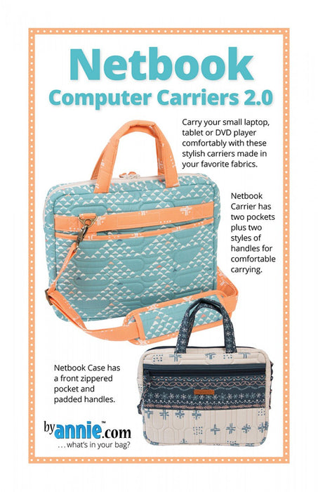New! Netbook Computer Carriers 2.0 - designed by Annie Unrein - byannie.com - RebsFabStash