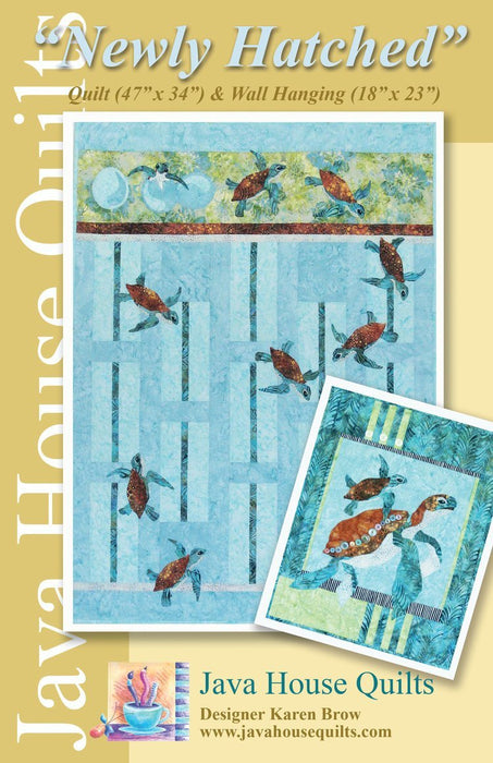 "New! ""Newly Hatched"" - Pattern - designed by Karen Brow for Java House Quilts - RebsFabStash"