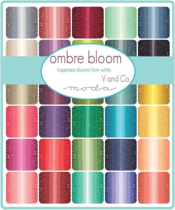 NEW! - Ombre Bloom - Graphite Grey - per yard - by Vanessa Christenson of V and Co. - MODA - 10870 13 - RebsFabStash
