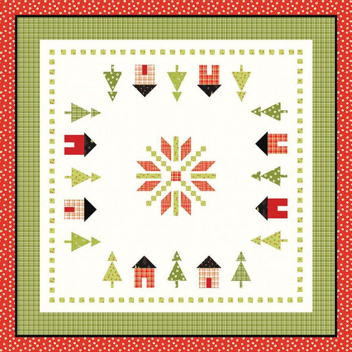 New! On The Square - #727 - Quilt Pattern - Sandy Gervais - Riley Blake Designs - Pieces From My Heart - Winter - RebsFabStash
