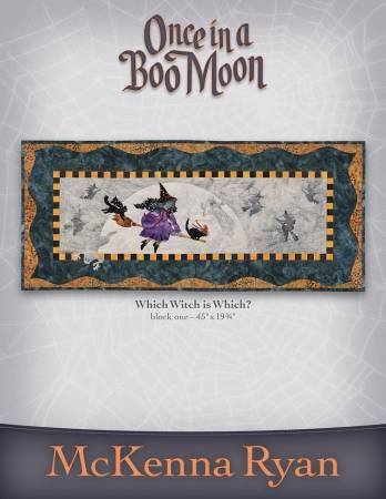 New! Once in a Boo Moon Complete Pattern Set designed by McKenna Ryan Collection - Pine Needles - RebsFabStash