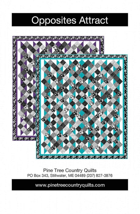 New! Opposites Attract - Quilt Pattern - Fat Quarter Friendly - by Pine Tree Country Quilts - RebsFabStash