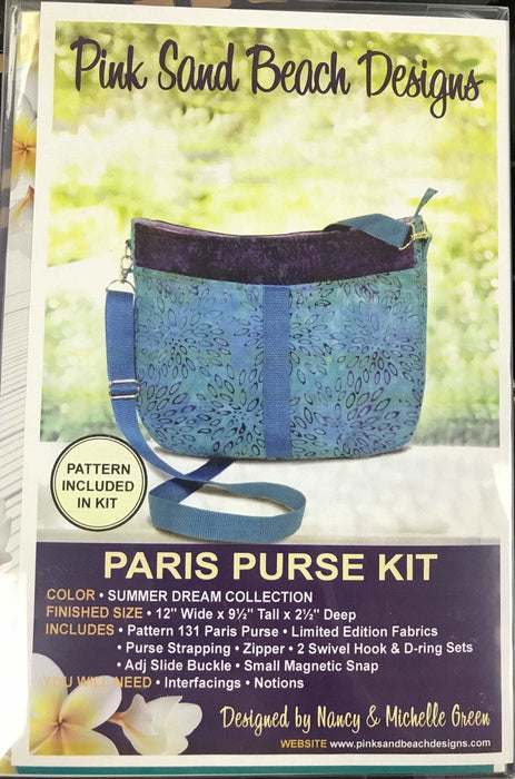 New! Paris Purse #131 by Pink Sand Designs - Complete KITS!! Pattern, fabric and notions INCLUDED! Must See! Two fabric options! - RebsFabStash