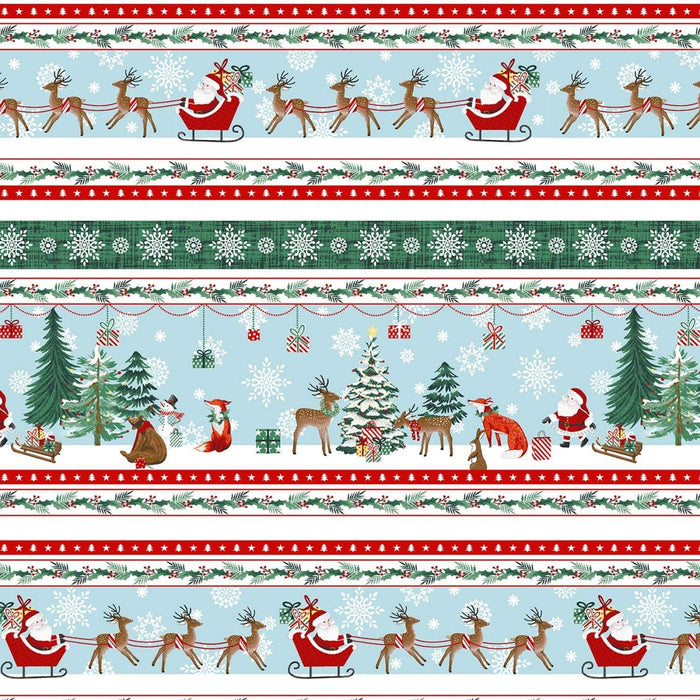 "NEW! Peace and Goodwill - per 30"" PANEL - by Anna Cheng for Studio E - 30"" Stocking Panel - 5200P-68 Green/Red - RebsFabStash"