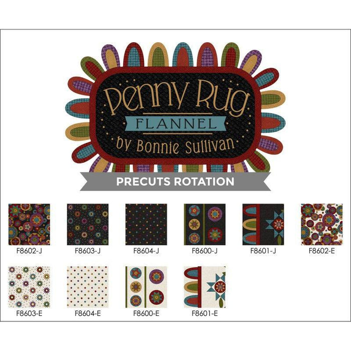 "NEW! Penny Rug FLANNEL- Tote Bag KIT - Designed By Bonnie Sullivan for Maywood Fabrics 15"" x 20"" - RebsFabStash"