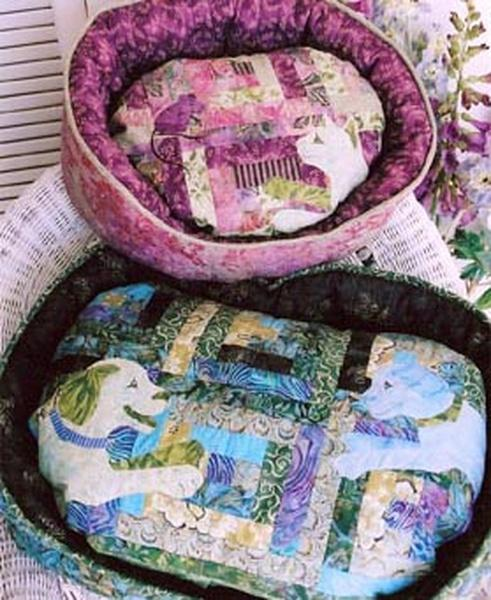 "New! ""Pieceful Pet Beds"" - Pattern - designed by Karen Brow for Java House Quilts - RebsFabStash"