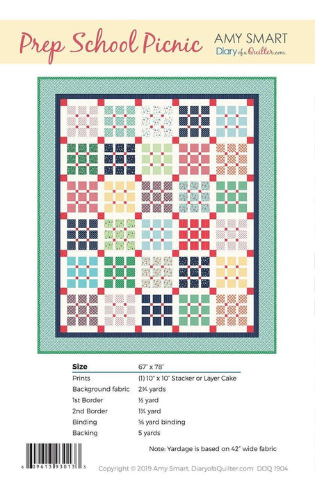 New! Prep School Picnic - by Amy Smart - Diary of a Quilter.com - RebsFabStash