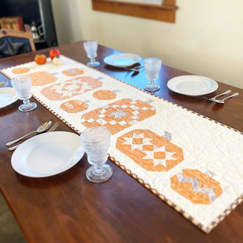 NEW! Pumpkin Patch Table Runner - KIT - All Hallow's Eve - Fig Tree & Co. - The Pattern Basket - RebsFabStash