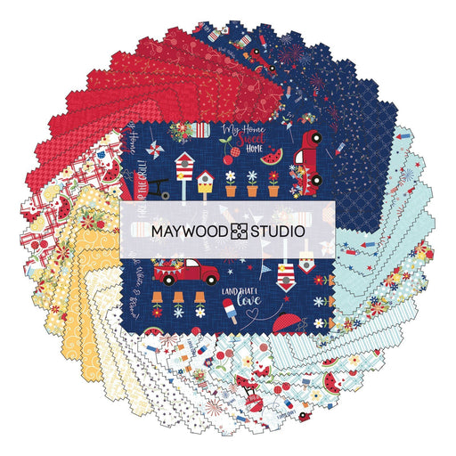 "NEW! Red, White, & Bloom - Charm Pack - by Kimberbell for Maywood Studio - (42) 5"" Squares - RebsFabStash"