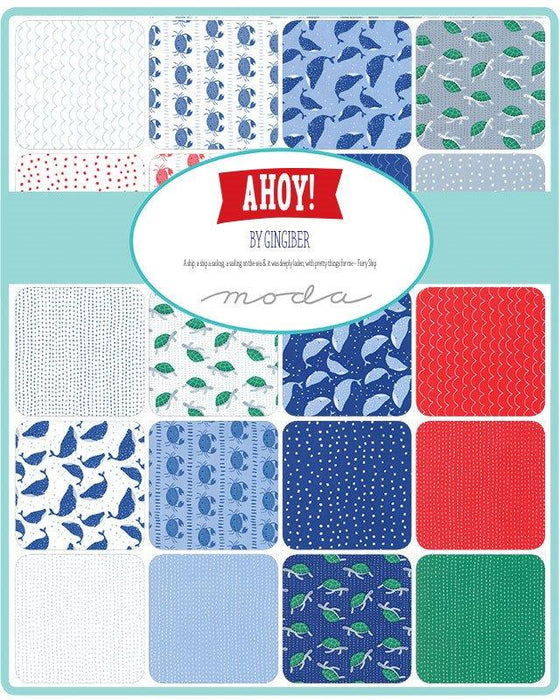 New! Set Sail - Quilt Pattern - Designed by Stacie Bloomfield - Uses Ahoy fabric By Charley Machicote for Gingiber - MODA - New Designer! - RebsFabStash