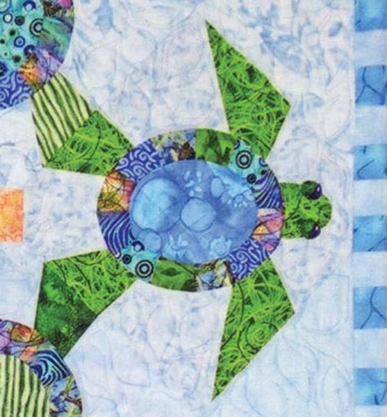"New! ""Shell We Dance?"" - Pattern - designed by Karen Brow for Java House Quilts - RebsFabStash"