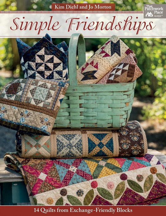 New! Simple Friendships - Book - by Jo Morten and Kim Diehl from Martingale - RebsFabStash