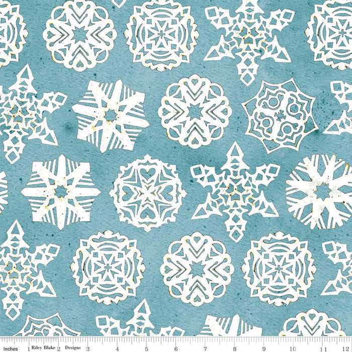 NEW! Snow Sweet - per yard - by Janet Wecker Frisch - Riley Blake Designs - Folk Parade Border Stripe - C9665-BORDER - RebsFabStash
