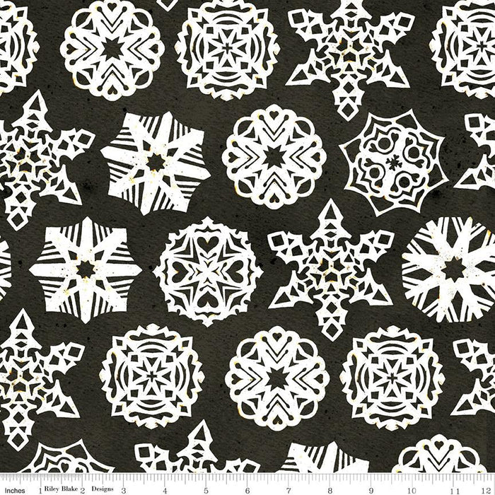 NEW! Snow Sweet - per yard - by Janet Wecker Frisch - Riley Blake Designs - Hand Painted Gingham Charcoal - C9666-CHARCOAL - RebsFabStash