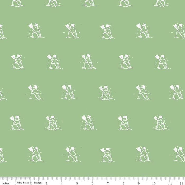 NEW! Snow Sweet - per yard - by Janet Wecker Frisch - Riley Blake Designs - Hand Painted Gingham Green - C9666-GREEN - RebsFabStash