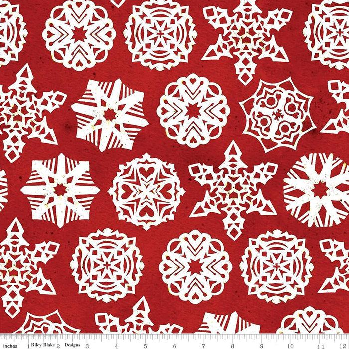 NEW! Snow Sweet - per yard - by Janet Wecker Frisch - Riley Blake Designs - Sugary Snow Dots Gingersnap - C9671-GINGERSNAP - RebsFabStash