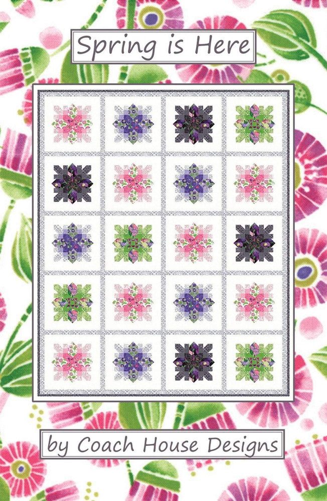 New! Spring is Here - Lap Quilt Pattern - by Barbara Cherniwchan - Coach House Designs - RebsFabStash