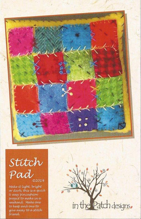 New! Stitch Pad Pin Cushion -Wool Kit - in the Patch designs - RebsFabStash