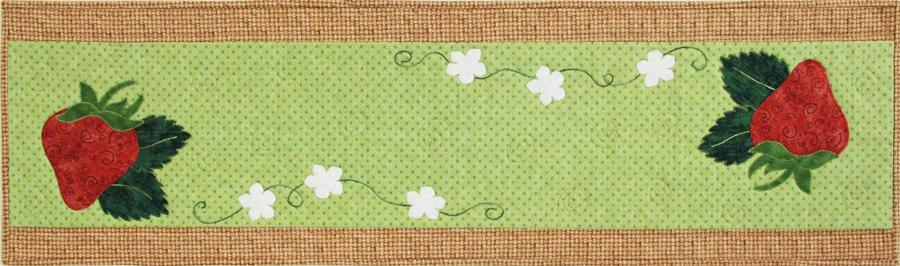 New! Strawberry Sweet Table Runner - Pattern - by Patch Abilities, Inc. Easy Pattern - RebsFabStash