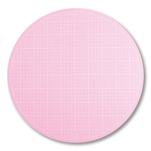 "NEW! Sue Daley Designs - ROTATING Pink Cutting Mat (LARGE) 16"" diameter- Lori Holt loves these!- Riley Blake Designs - Great for cutting circles!! - RebsFabStash"
