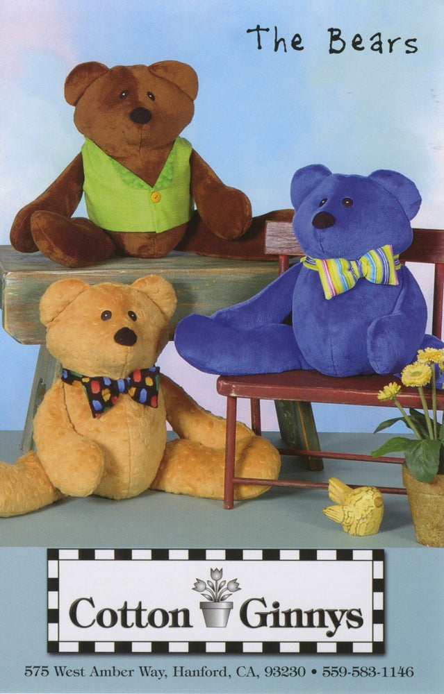 New! The Bears - Pattern - by Cynthia Rose & Helen Beverlin - Cotton Ginny's - RebsFabStash