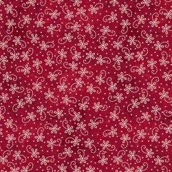 NEW! The Little Things by Robin Kingsley for Maywood - Sold by the yard - White paisley on red - MAS 9104 RE - RebsFabStash