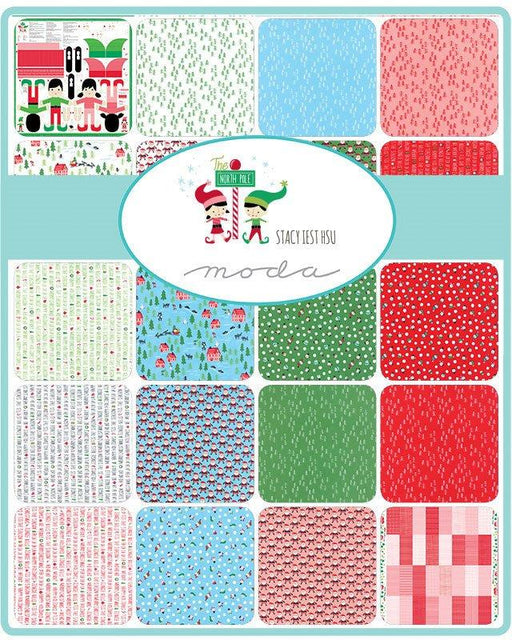 "New! The North Pole - Charm Pack (42) 5"" squares - by Stacy Iest-Hsu - MODA - Quilting/Sewing Fabric - Christmas - RebsFabStash"