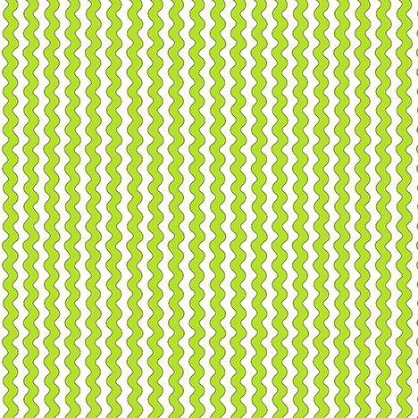 NEW! The Quilted Cottage by Desiree Designs-Quilting Treasures-Fun fairies and notions! Per Yard- Lime & White ric rac stripe - RebsFabStash