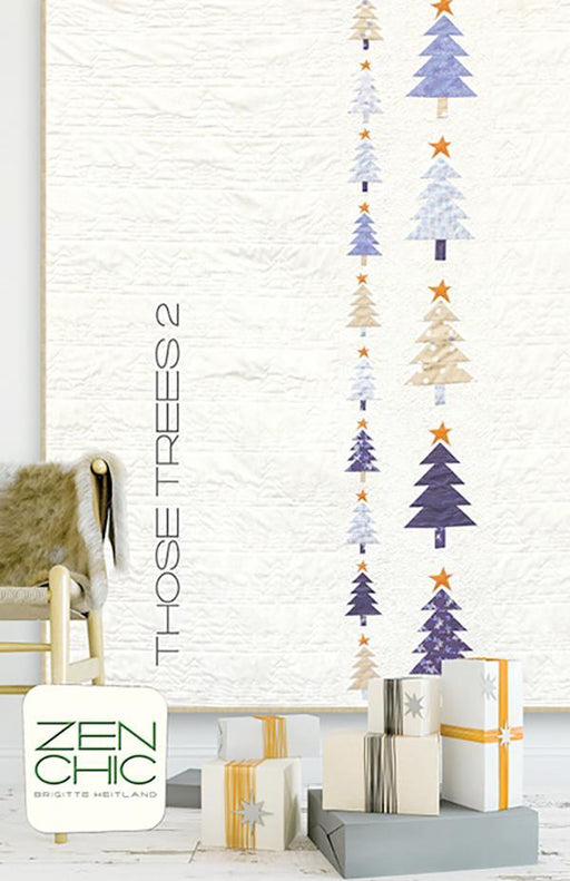 NEW! Those Trees 2 - Quilt KIT - uses Chill by Brigitte Heitland of Zen Chic - Moda