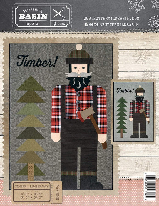 New! Timber! Lumberjack - PATTERN- Buttermilk Basin - Stacy West- Use wool, felt, flannel, or regular cotton! - RebsFabStash