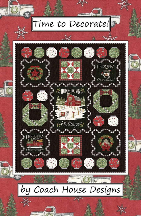 New! Time to Decorate - Lap Quilt Pattern - Barbara Cherniwchan - Coach House Designs - Uses Homegrown Holidays by Deb Strain for Moda - RebsFabStash
