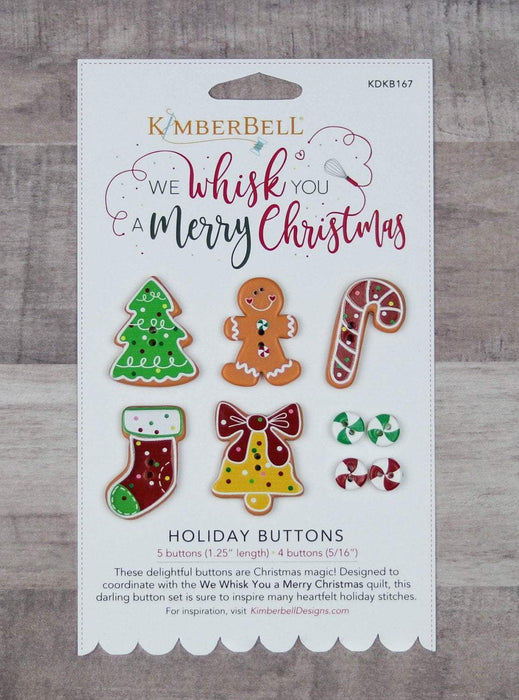 New! We Whisk You a Merry Christmas Holiday Buttons - Kimberbell Designs - RebsFabStash