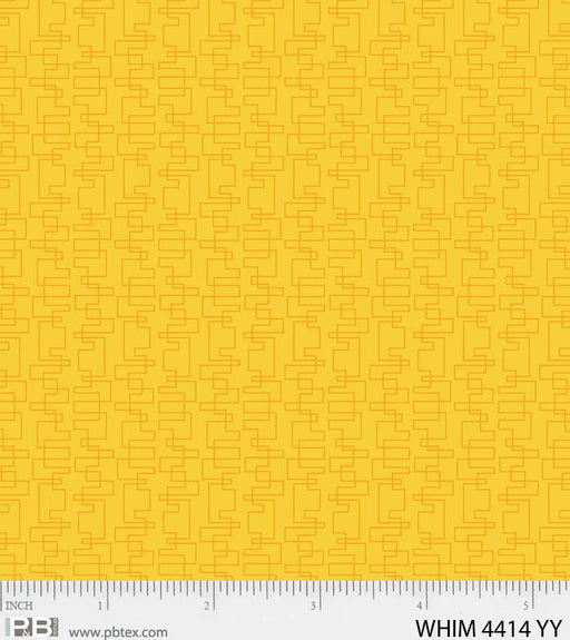 New! Whimsy Transit- Yellow - Per Yard - by Heather Dutton of Hang Tight Studio for P&B Textiles - tonal, blender - WHIM 04414 YY yellow - RebsFabStash