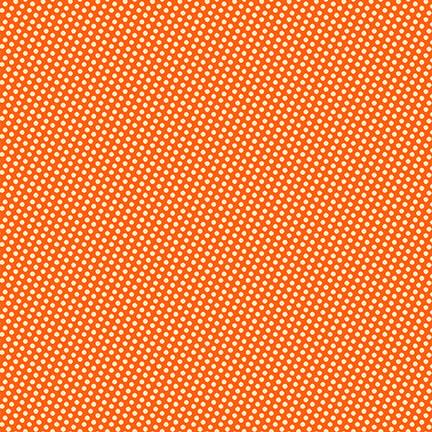 New! Wild and Free - Mini Dots - Orange - Per Yard - by Jessica Mundo - Henry Glass & Co. - 9568-34 orange - RebsFabStash