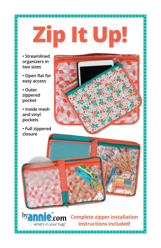 New! Zip It Up! - pattern - designed by Annie - Annie.com - RebsFabStash