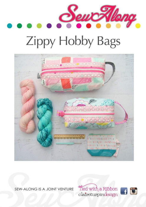 New! Zippy Hobby Bags - pattern - designed by Claire Turpin - Creative Abundance - RebsFabStash