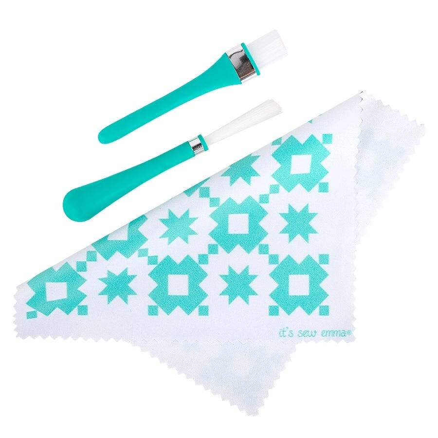 Oh Sew Clean Brush & Cloth Set - It's Sew Emma - Sewing Machine Cleaning - ISE 739 - RebsFabStash
