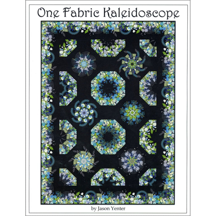 One Fabric Kaleidoscope -Quilt Pattern! Uses Unusual Gardens Fabric by Jason Yenter- Border Stripe - but works with any of his border print. - RebsFabStash