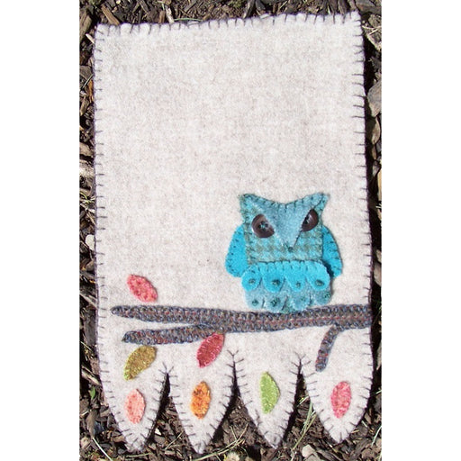 Owl Mug Rug Kit - Includes wool buttons and glue needed for project! - In the Patch Designs - Phyllis Meiring - craft kit, wool kit - RebsFabStash