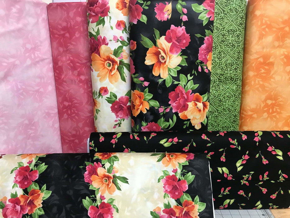 Paradise by Maywood Studio-Per yard-Tulip Buds on Ecru MAS 8455-E beautiful floral, tonals, blenders, tulips & roses! - RebsFabStash