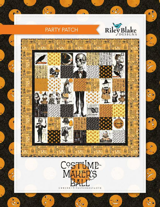 Party Patch Quilt Kit - Uses Costume Maker's Ball fabric - Janet Wecker Frisch- Riley Blake Designs - Halloween quilt! - RebsFabStash
