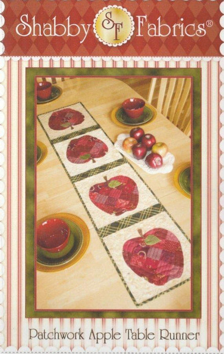 Patchwork Apple Table Runner - Pattern - by Shabby Fabrics - Apples - RebsFabStash