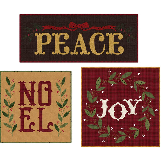 Peace, Noel and Joy - The Quilt Factory by Deb Grogan - Precut pillow kit, includes pattern, fabrics and applique - Woolies Flannel! - (2C) - RebsFabStash
