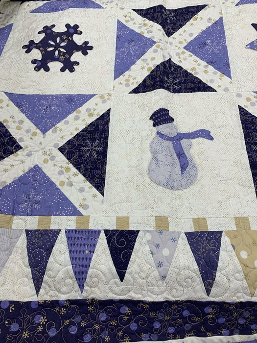 PRE-ORDER EXCLUSIVE! Holiday Retreat Quilt Kit - Uses Chill fabrics by Zen Chic - Quilt pattern by Denise Russell Options for backing! - RebsFabStash