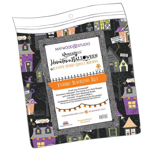 PREORDER! Candy Corn Quilt Shoppe - Backing Kit - uses Hometown Halloween by Kim Christopherson of Kimberbell for Maywood Studio - RebsFabStash
