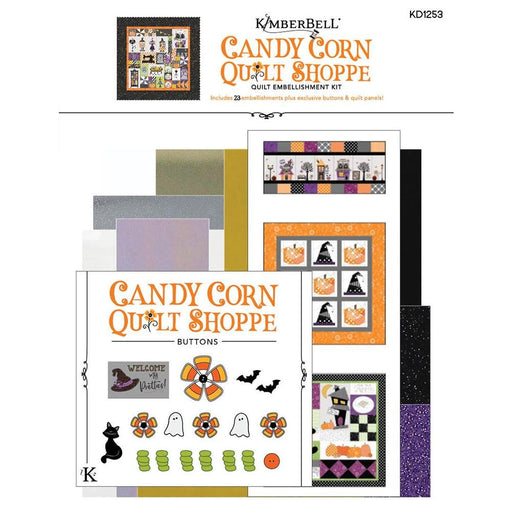 PREORDER! Candy Corn Quilt Shoppe - Embellishment Kit - uses Hometown Halloween by Kim Christopherson of Kimberbell for Maywood Studio - RebsFabStash
